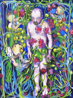 Goldapple, 2012, 175x140cm, oil and pigments on canvas
