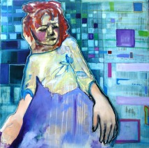 Sleeper 2, 2014, 120x120cm, oil and crayon on canvas