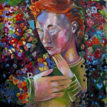 Sleeper 1, 2014, 120x120cm, oil and crayon on linnen