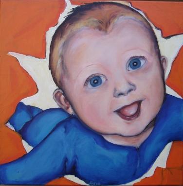 2002 portret baby's 'Super baby'