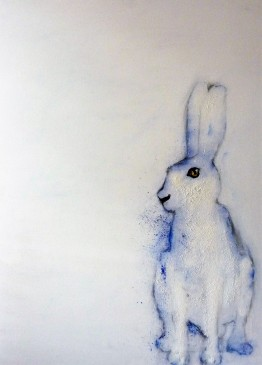 Mountain hare, 2011, pigments, primer and oil on canvas