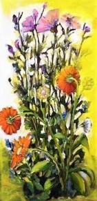 Flowers in yellow, 2014, 60x30cm, oli on multiplex